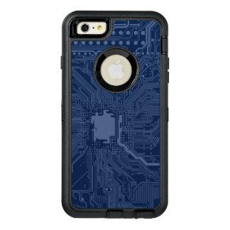 青いギークのマザーボード回路パターン オッターボックスディフェンダーiPhoneケース