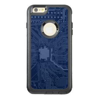 青いギークのマザーボード回路パターン オッターボックスiPhone 6/6S PLUSケース