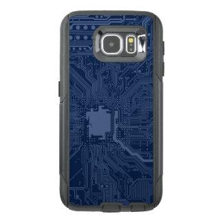 青いギークのマザーボード回路パターン オッターボックスSamsung GALAXY S6ケース