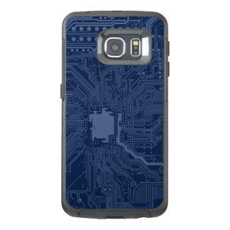 青いギークのマザーボード回路パターン オッターボックスSamsung GALAXY S6 EDGEケース