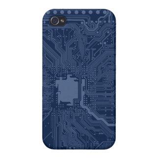 青いギークのマザーボード回路パターン iPhone 4/4Sケース