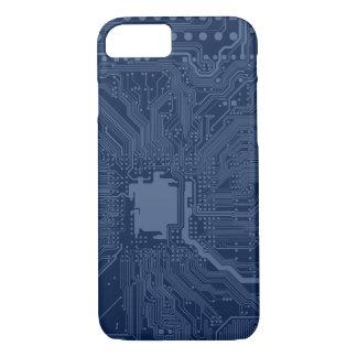 青いギークのマザーボード回路パターン iPhone 8/7ケース