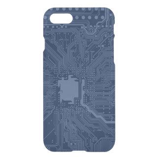 青いギークのマザーボード回路パターン iPhone 8/7 ケース