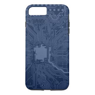 青いギークのマザーボード回路パターン iPhone 8 PLUS/7 PLUSケース