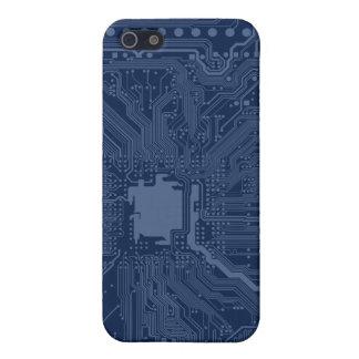 青いギークのマザーボード回路パターン iPhone SE/5/5sケース