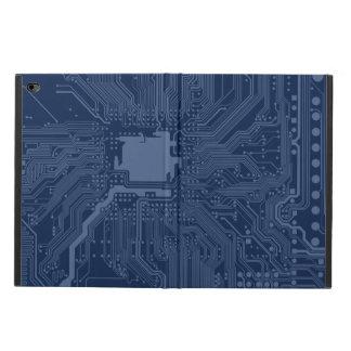 青いギークのマザーボード回路パターン POWIS iPad AIR 2 ケース