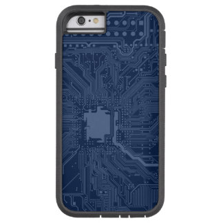 青いギークのマザーボード回路パターン TOUGH XTREME iPhone 6 ケース