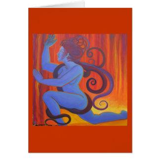 青いクラゲ カード