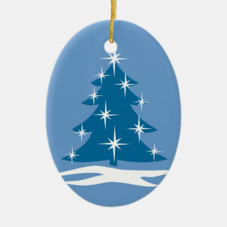 青いクリスマスのオーナメントのChrismasの木の装飾 セラミックオーナメント