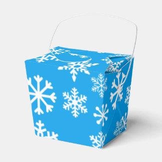 青いクリスマスのクッキーのギフト用の箱 フェイバーボックス