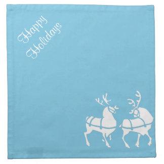 青いクリスマスのナプキンの名前入りで青い休日 ナプキンクロス