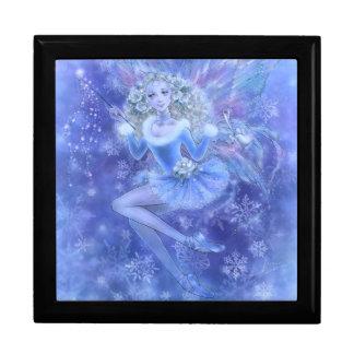 青いクリスマスの妖精のギフト用の箱 ギフトボックス