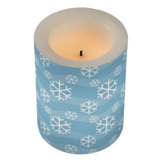 青いクリスマスの雪片の蝋燭 LEDキャンドル