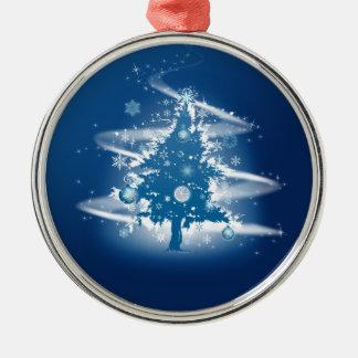 青いクリスマスツリーの空想のエレガントな装飾 メタルオーナメント