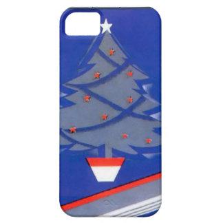 青いクリスマスツリー iPhone SE/5/5s ケース