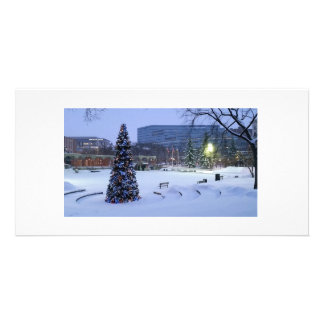 青いクリスマス、カルガリー、アルバータ、カナダ カード