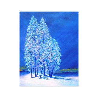 青いクリスマス# 3 キャンバスプリント