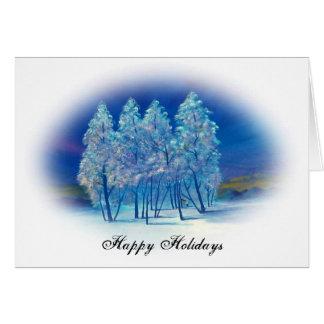 青いクリスマス#4の楕円形 カード