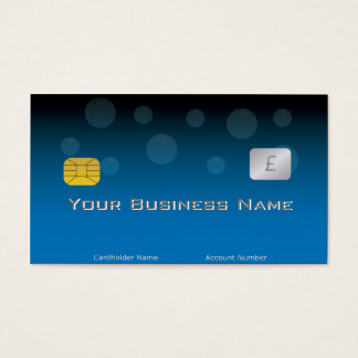 青いクレジットカードのスタイルの名刺 名刺