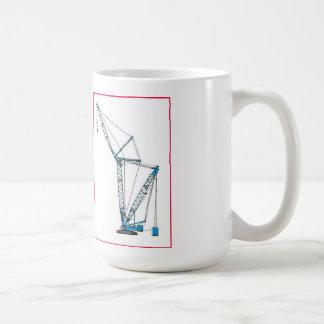 青いクローラークレーンマグ コーヒーマグカップ