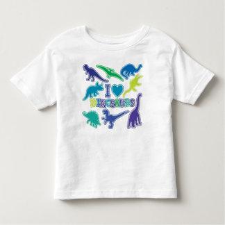 青いクールな恐竜のTシャツ-紫色および緑 トドラーTシャツ