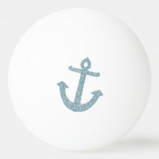 青いグリッターのいかり 卓球ボール
