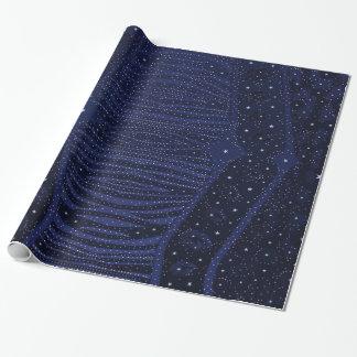 青いグリッターのシマウマの抽象芸術 ラッピングペーパー