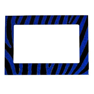 青いグリッターのシマウマは磁気フレームを縞で飾ります マグネットフレーム