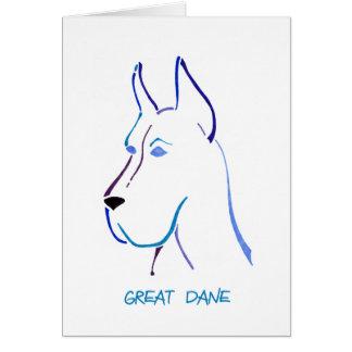 青いグレートデーン カード