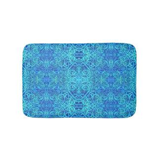 青いコイル バスマット