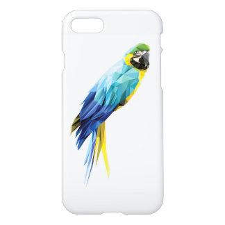青いコンゴウインコの低い多角形の鳥 iPhone 8/7 ケース