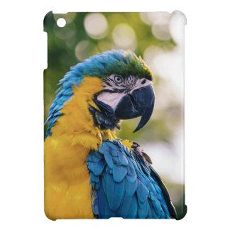 青いコンゴウインコの箱の精通した光沢のあるiPad Miniケース iPad Miniケース