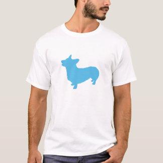 青いコーギーのティー Tシャツ