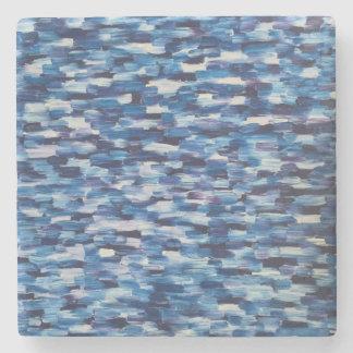 青いコースターの群集 ストーンコースター