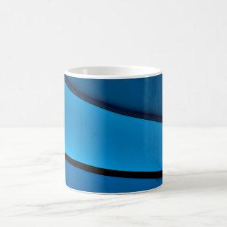 """""""青いコーヒー・マグ1つ11のoz。 クラシックなコーヒー・マグ コーヒーマグカップ"""