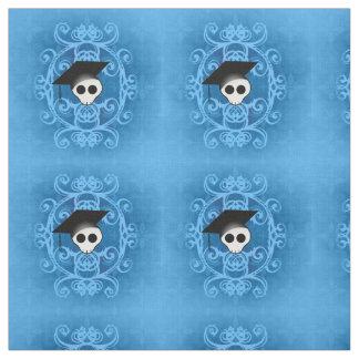 青いゴシックのスカル ファブリック