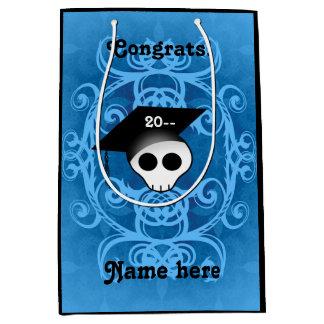 青いゴシックの卒業 ミディアムペーパーバッグ