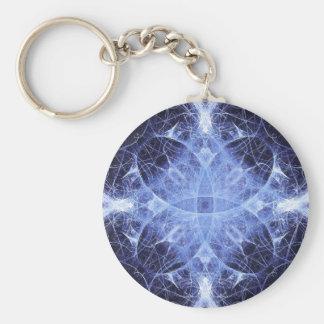青いゴシック様式プリンセスのフラクタルのキーホルダー キーホルダー