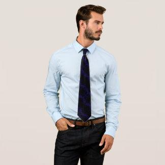 青いゴシック様式五芒星の絹のFoulard ネクタイ