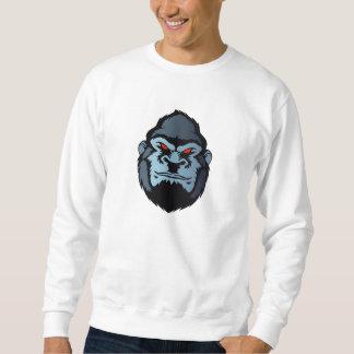 青いゴリラの頭部 スウェットシャツ