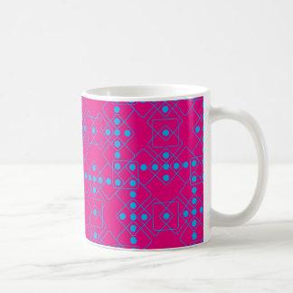 青いサイコロ コーヒーマグカップ