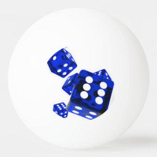 青いサイコロ 卓球ボール