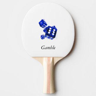 青いサイコロ 卓球ラケット