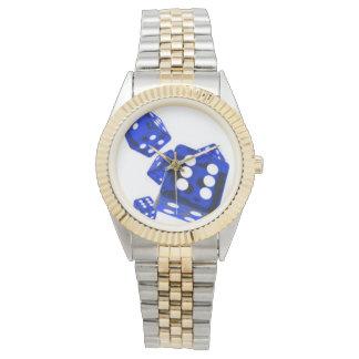 青いサイコロ 腕時計
