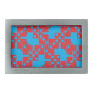 青いサイコロ 長方形ベルトバックル