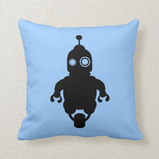青いサイファイのロボットクッション クッション