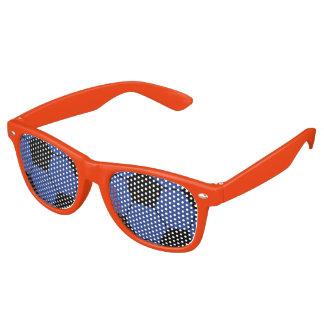 青いサッカーボールのサングラス レトロサングラス