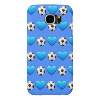青いサッカーボールのSamsungの銀河系S6の箱 Samsung Galaxy S6 ケース