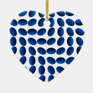 青いサファイアの目の錯覚 セラミックオーナメント