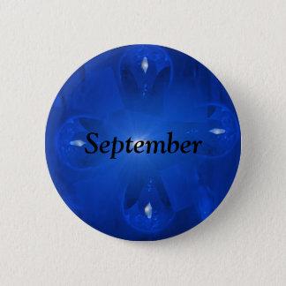 青いサファイア9月Birthstone 5.7cm 丸型バッジ